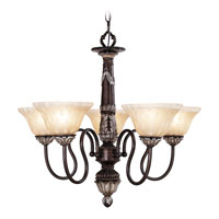 Livex Lighting Sovereign 5 Light Chandelier in Hand Rubbed Bronze with Antique Silver Accents 8305-40