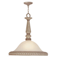 Livex Lighting Pompeii 1 Light Pendant in Crackled Antique Ivory 8332-87