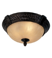 Livex Arcadia 3 Light Ceiling Mount in Hand Rubbed Bronze with Antique Silver Accents 8398-40 alternative photo thumbnail