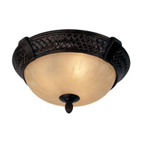 Livex Arcadia 3 Light Ceiling Mount in Hand Rubbed Bronze with Antique Silver Accents 8398-40 photo thumbnail