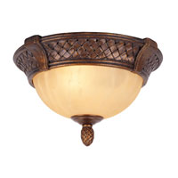 Livex Lighting Arcadia 2 Light Ceiling Mount in Provincial Gold 8401-19