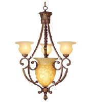 Livex Lighting Drake 4 Light Chandelier in Crackled Greek Bronze with Aged Gold Accents 8413-30 alternative photo thumbnail