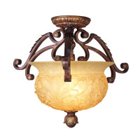 Livex Lighting Drake 2 Light Ceiling Mount in Crackled Greek Bronze with Aged Gold Accents 8415-30