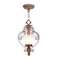 Livex 8421-57 Savannah 1 Light 9 inch Venetian Patina Pendant/Ceiling Mount Ceiling Light