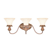 Savannah 3 Light 29 inch Venetian Patina Bath Light Wall Light