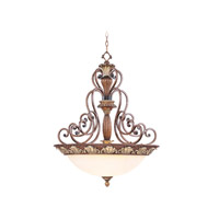Livex Lighting Savannah 4 Light Inverted Pendant in Venetian Patina 8427-57