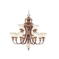 Livex Lighting Savannah 12 Light Chandelier in Venetian Patina 8428-57