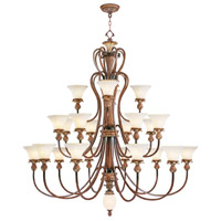 Livex Lighting Savannah 22 Light Chandelier in Venetian Patina 8429-57