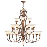 Livex 8429-57 Savannah 23 Light 60 inch Venetian Patina Chandelier Ceiling Light
