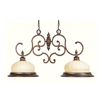 Renaissance 2 Light 39 inch Moroccan Gold Island Light Ceiling Light