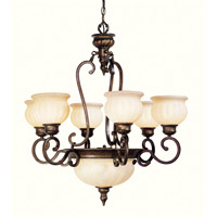 Livex Lighting Renaissance 8 Light Chandelier in Moroccan Gold 8437-50