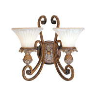 Livex 8452-57 Savannah 2 Light 17 inch Venetian Patina Wall Sconce Wall Light