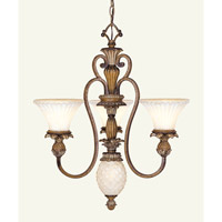 Livex 8453-57 Savannah 4 Light 24 inch Venetian Patina Chandelier Ceiling Light