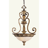 Savannah 3 Light 18 inch Venetian Patina Inverted Pendant Ceiling Light