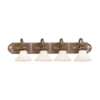 Livex 8455-57 Savannah 4 Light 40 inch Venetian Patina Bath Light Wall Light