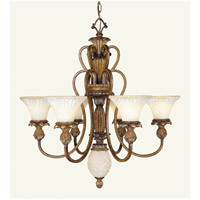 Livex 8456-57 Savannah 7 Light 30 inch Venetian Patina Chandelier Ceiling Light