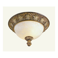 Livex Lighting Savannah 2 Light Ceiling Mount in Venetian Patina 8457-57