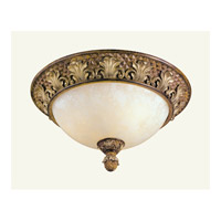 Savannah 3 Light 16 inch Venetian Patina Ceiling Mount Ceiling Light