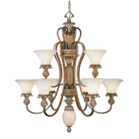 Livex Lighting Savannah 9 Light Chandelier in Venetian Patina 8459-57