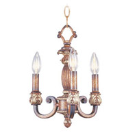 Livex Lighting Savannah 3 Light Pendant/Ceiling Mount in Venetian Patina 8461-57