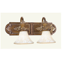 Savannah 2 Light 21 inch Venetian Patina Bath Light Wall Light