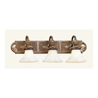 Savannah 3 Light 30 inch Venetian Patina Bath Light Wall Light