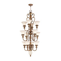 Livex Lighting Savannah 12 Light Chandelier in Venetian Patina 8464-57