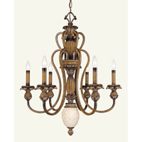 Livex Lighting Savannah 6 Light Chandelier in Venetian Patina 8466-57