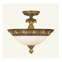 Savannah 3 Light 16 inch Venetian Patina Semi-Flush Mount Ceiling Light