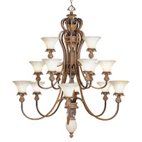 Livex Lighting Savannah 15 Light Chandelier in Venetian Patina 8469-57