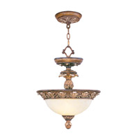 Livex Lighting Savannah 2 Light Ceiling Mount in Venetian Patina 8470-57