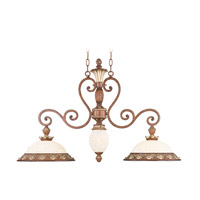 Livex 8472-57 Savannah 3 Light 38 inch Venetian Patina Island Light Ceiling Light