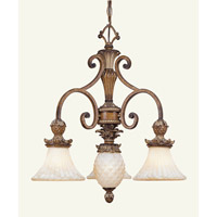 Livex Lighting Savannah 3 Light Chandelier in Venetian Patina 8473-57