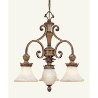 Livex 8473-57 Savannah 4 Light 24 inch Venetian Patina Chandelier Ceiling Light