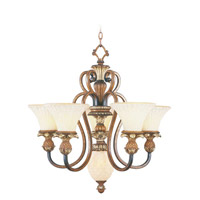 Livex 8485-57 Savannah 6 Light 27 inch Venetian Patina Chandelier Ceiling Light
