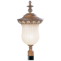 Livex Lighting Savannah 1 Light Outdoor Post Head in Venetian Patina 8494-57
