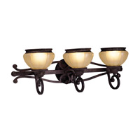Livex Lighting Aladdin 3 Light Bath Light in Rustic Copper 8503-47 photo thumbnail