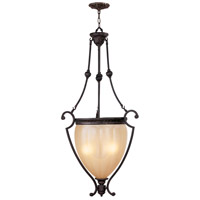 Livex Aladdin 3 Light Foyer Chandelier in Rustic Copper 8508-47