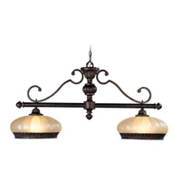 Livex Lighting Aladdin 2 Light Chandelier in Rustic Copper 8509-47 photo thumbnail