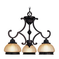 Livex Lighting Aladdin 3 Light Chandelier in Rustic Copper 8513-47