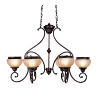 Livex Lighting Aladdin 6 Light Chandelier in Rustic Copper 8516-47