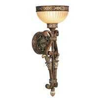 Livex Lighting Seville 1 Light Wall Sconce in Palacial Bronze with Gilded Accents 8521-64