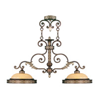 Livex 8522-64 Seville 2 Light 36 inch Palacial Bronze with Gilded Accents Island Light Ceiling Light