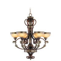 Livex Lighting Seville 6 Light Chandelier in Palacial Bronze with Gilded Accents 8526-64