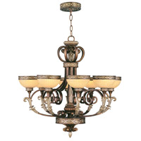Livex Lighting Seville 8 Light Chandelier in Palacial Bronze with Gilded Accents 8528-64