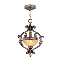 Livex Lighting Seville 1 Light Foyer Pendant in Palacial Bronze with Gilded Accents 8530-64