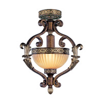Livex Lighting Seville 1 Light Foyer Pendant in Palacial Bronze with Gilded Accents 8530-64 alternative photo thumbnail