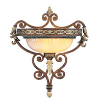 Livex Lighting Seville 1 Light Wall Sconce in Palacial Bronze with Gilded Accents 8531-64