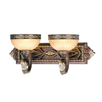 Seville 2 Light 23 inch Palacial Bronze with Gilded Accents Bath Light Wall Light