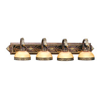 Livex Lighting Seville 4 Light Bath Light in Palacial Bronze with Gilded Accents 8534-64